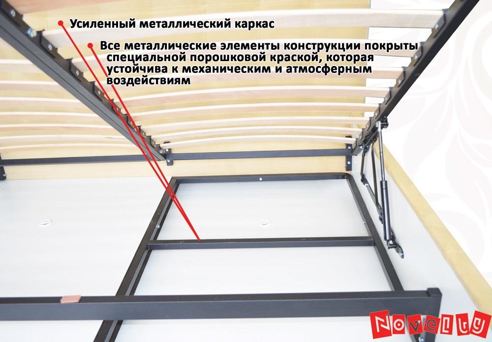 Фото Кровать «Бест» 140*200 + механизм Novelty - sofino.ua
