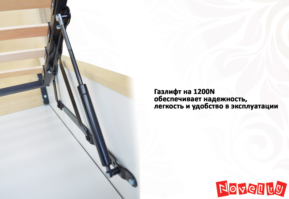 Фото Кровать «Камелия» 140*200 каркас + механизм Novelty - sofino.ua