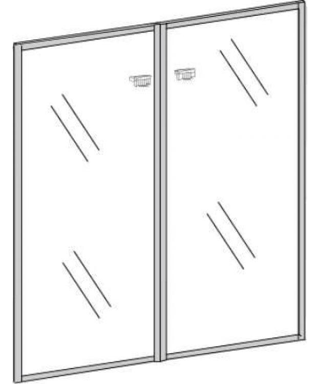 Фото Двери стеклянные П802 «Premier» 91.6*120.8 Nowy styl - sofino.ua