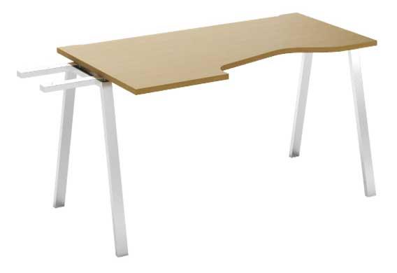 Фото Модуль завершающий стола письменного углового MN202V3 R «Megan» 80*120 Nowy styl - sofino.ua