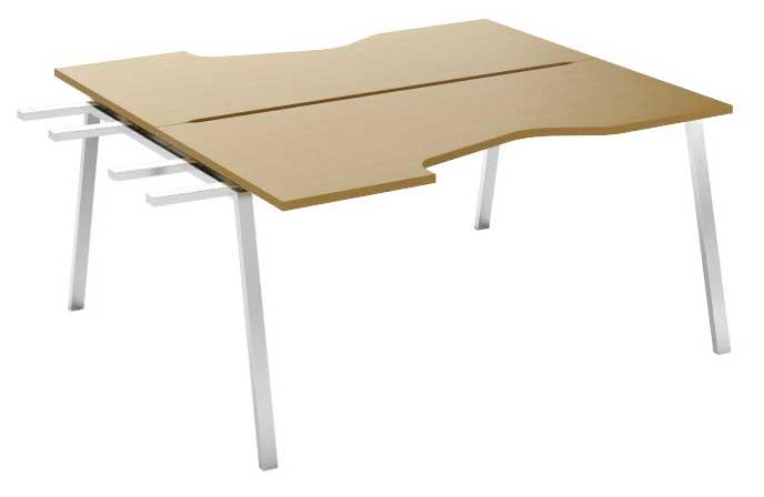 Фото Модуль завершающий стола письменного углового двухстороннего MN207V3 «Megan» 120 Nowy styl - sofino.ua
