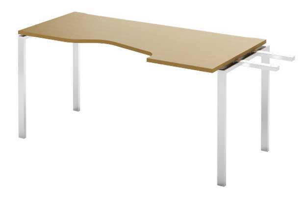 Фото Модуль завершающий стола письменного углового MN201W3 L «Megan» 80*120 Nowy styl - sofino.ua