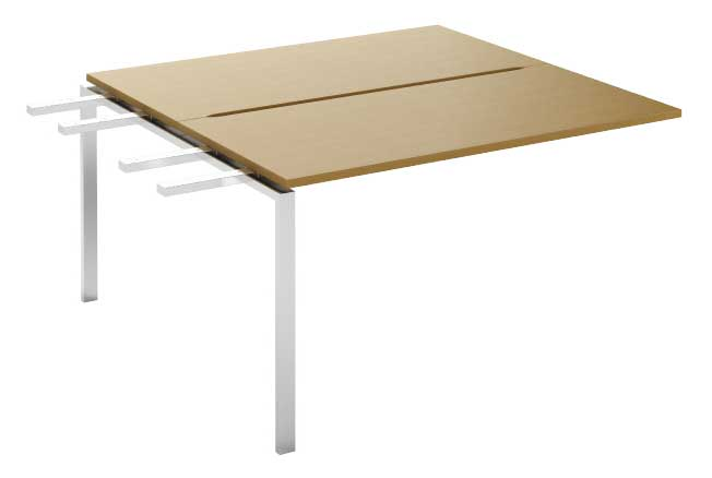Фото Модуль промежуточный стола письменного двухстороннего MN105W2 «Megan» 120 Nowy styl - sofino.ua