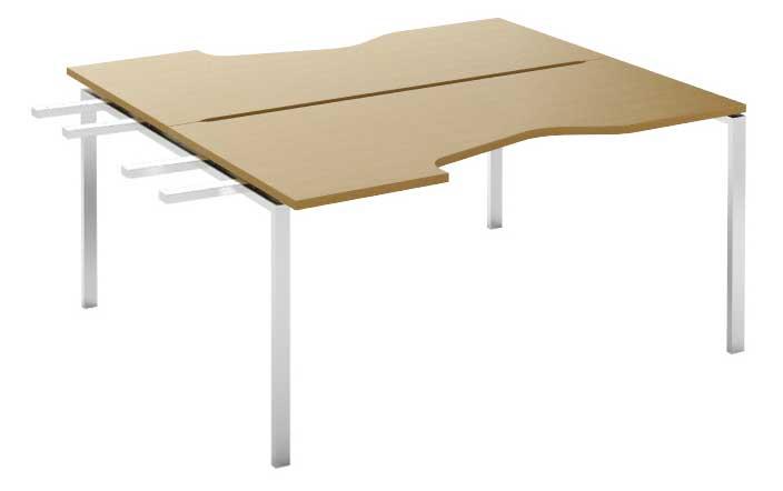 Фото Модуль завершающий стола письменного углового двухстороннего MN207W3 «Megan» 120 Nowy styl - sofino.ua