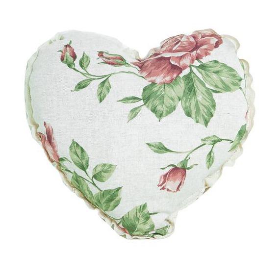 Фото Подушка-сердце «Large pink Rose» Прованс - sofino.ua