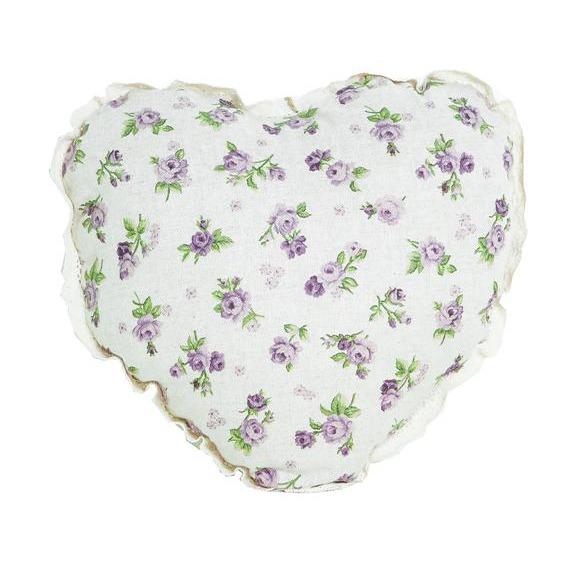 Фото Подушка-сердце «Lilac Rose» Прованс - sofino.ua