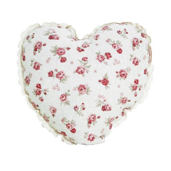 Фото Подушка-сердце «Red Rose» Прованс - sofino.ua