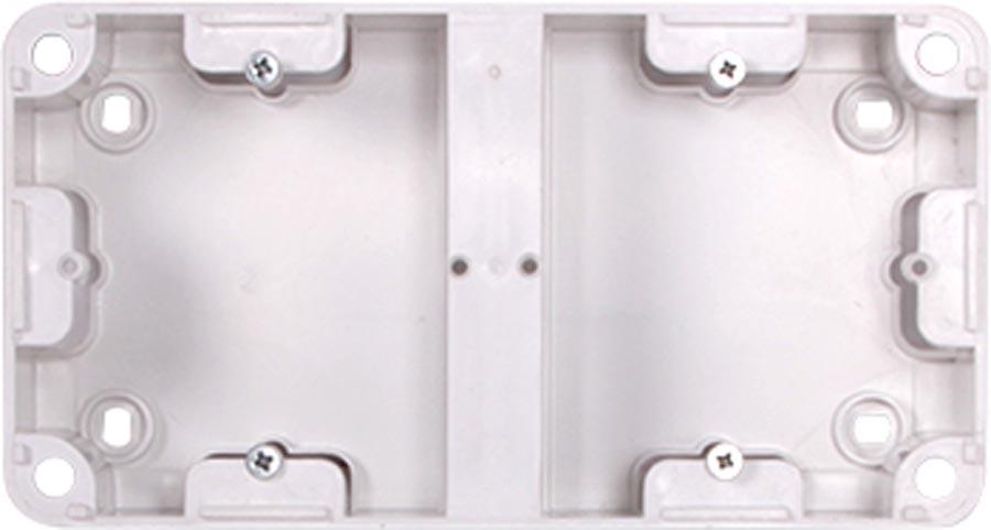 Фото Коробка установочная двойная «236» внешний монтаж 220В Enext - sofino.ua