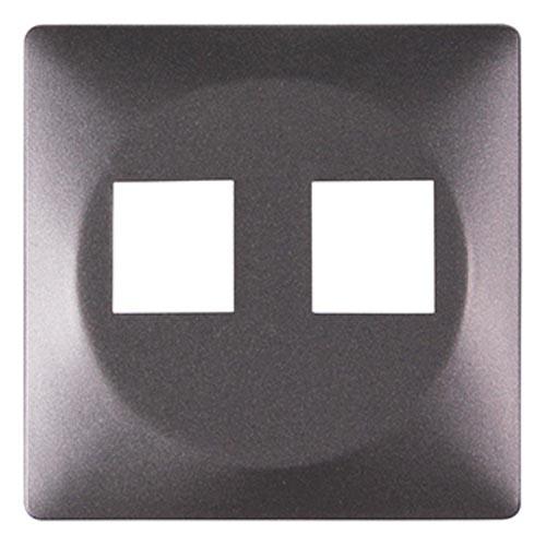 Фото Панель для двойной розетки e.lux.16121L.pn.anthracite «ins0040032» Enext - sofino.ua