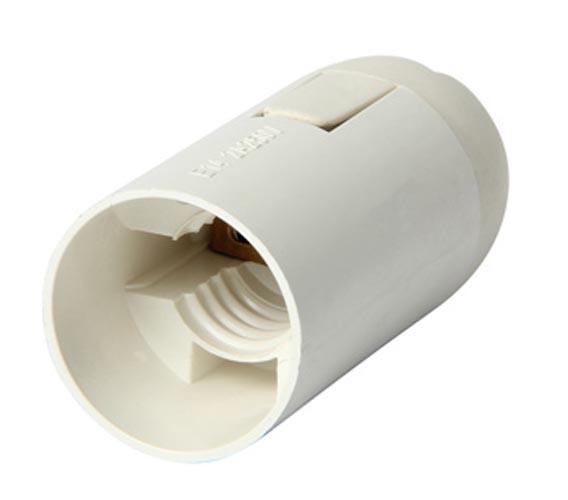 Фото Патрон пластиковый e.lamp socket.E14.pl.white «s9100010» Enext - sofino.ua