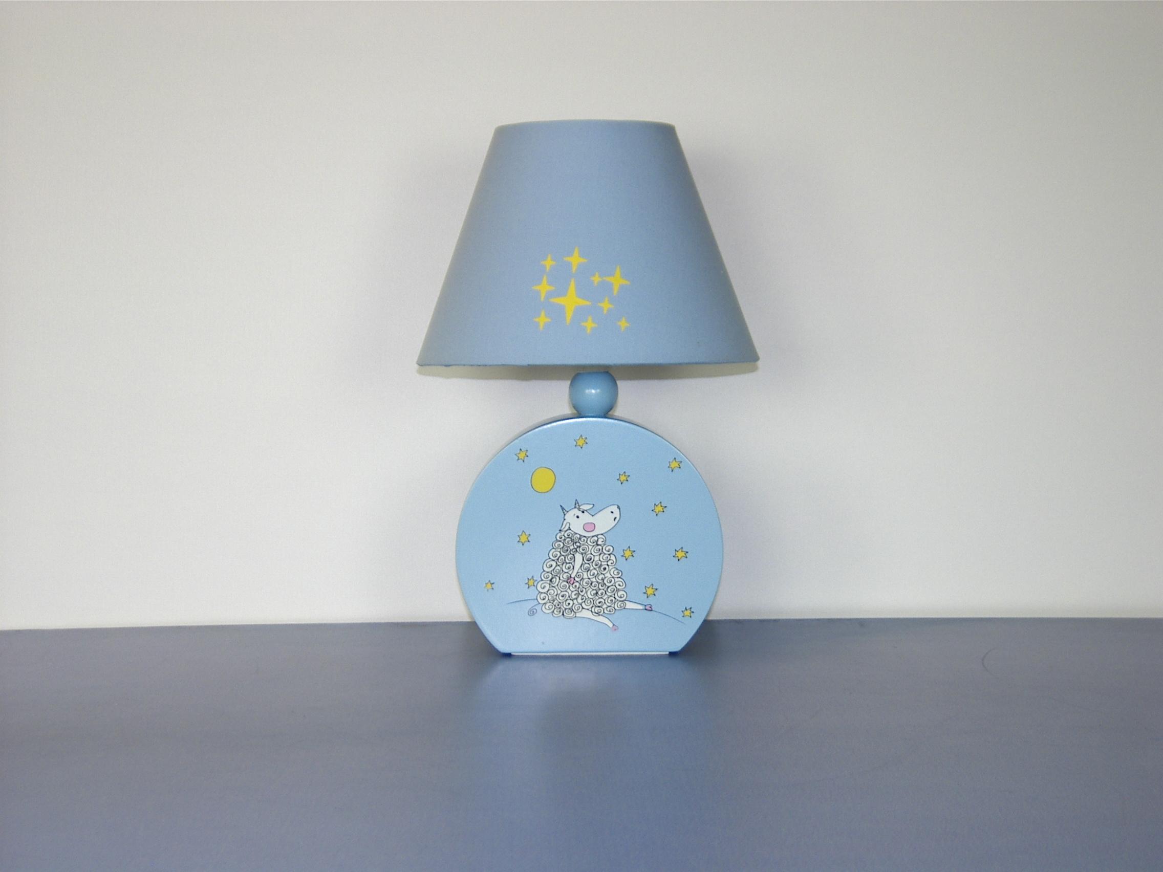 Фото Лампа настольная 41-25206 «Dolly» голубой CND - sofino.ua