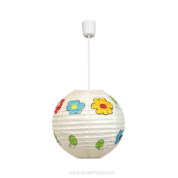 Фото Лампа подвесная 31-16037 «Kokon» 50 бумага/цветы CND - sofino.ua