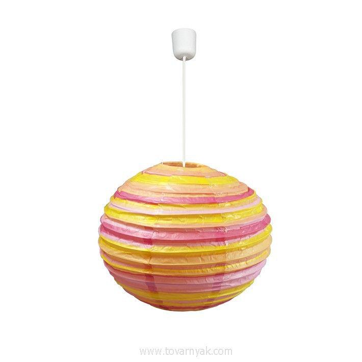Фото Лампа подвесная 31-16099 «Kokon» 50 бумага/оранжево-розовый CND - sofino.ua