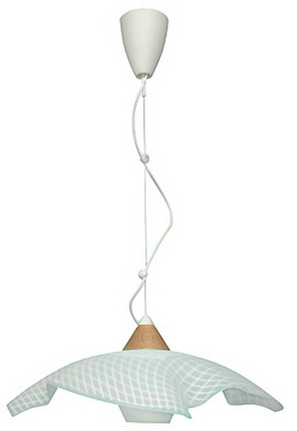 Фото Лампа подвесная 31-44801 «Pezza» белый/дерево CND - sofino.ua