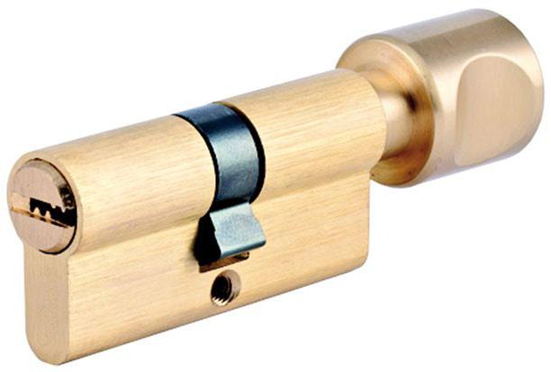 Фото Евроцилиндр «EN 1303» ключ-вертушка 62 мм мат латунь Riccardi - sofino.ua