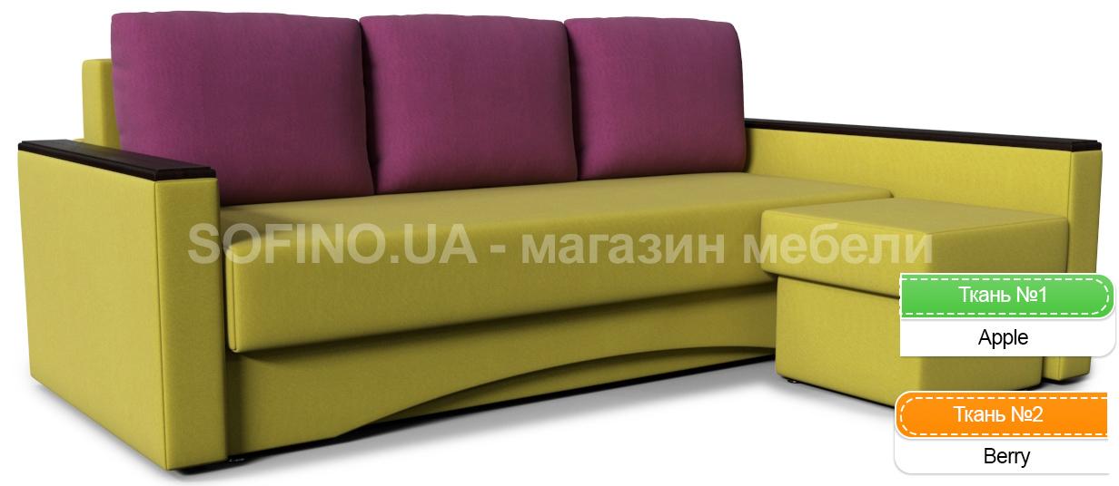 Фото Диван угловой «Виктория Пуф Color» Zenit Color - sofino.ua