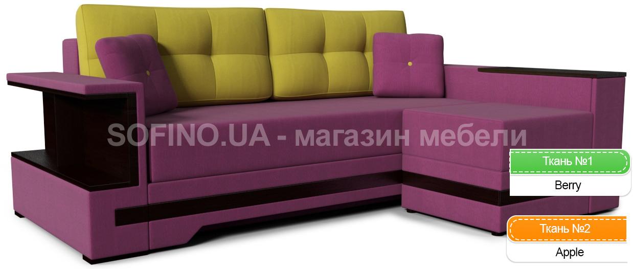 Фото Диван угловой «Марсель пуф Color» (ЗН) Zenit Color - sofino.ua