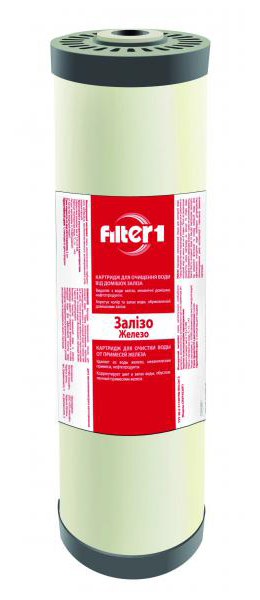 Фото Картридж для удаления железа CRVF4520F1 «Filter1» 4.5*20 Ecosoft - sofino.ua