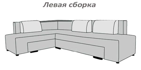 Фото Диван угловой «Бридж» без подголовников Матролюкс - sofino.ua