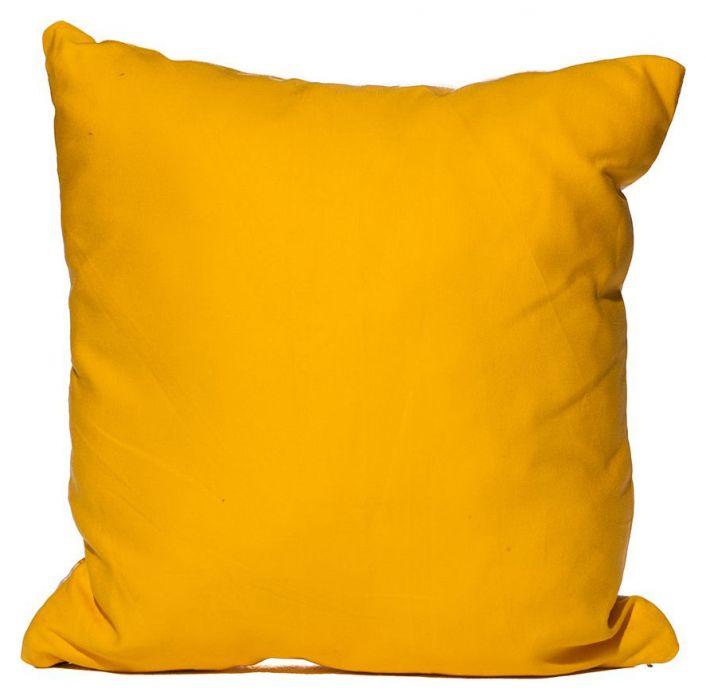Фото Подушка с наволочкой декор 18762 «Волна» желтый 40*40  Izzihome - sofino.ua