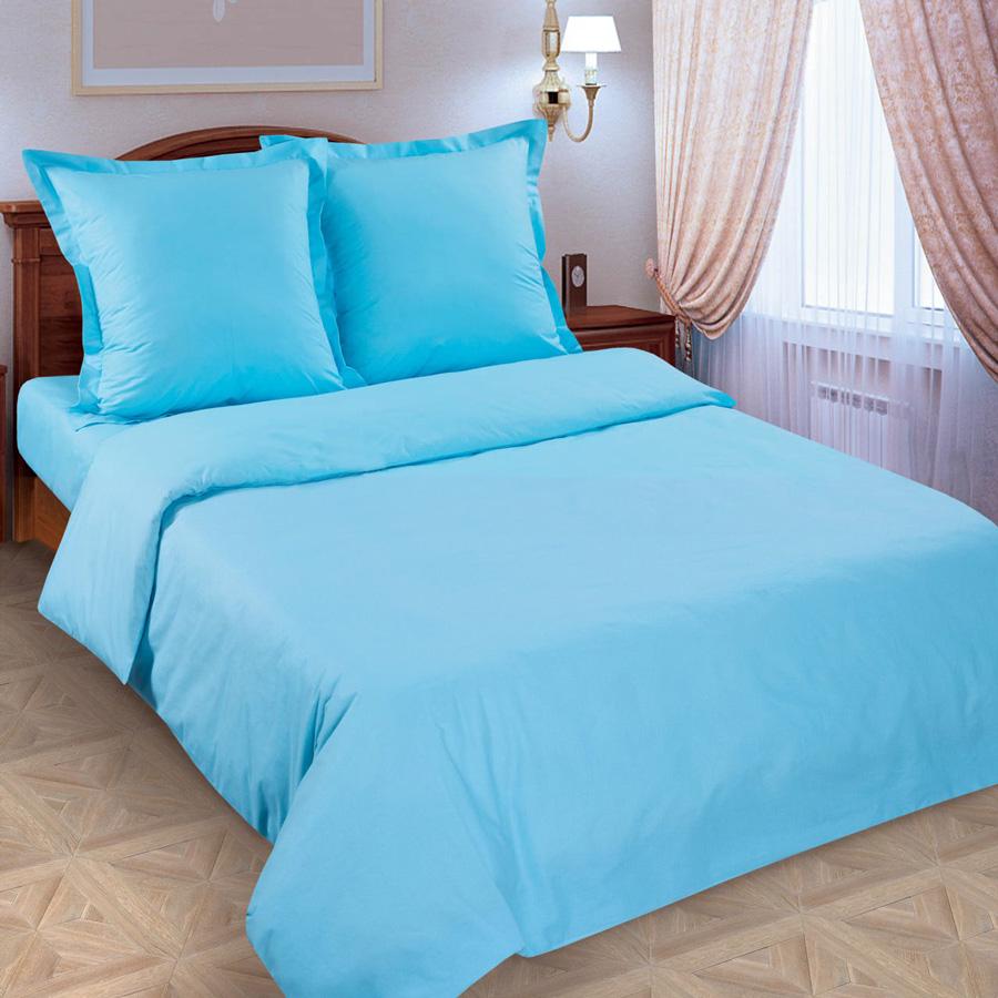 Фото Комплект «Голубой (гладкокрашеный)» евростандарт-4 Miratex - sofino.ua