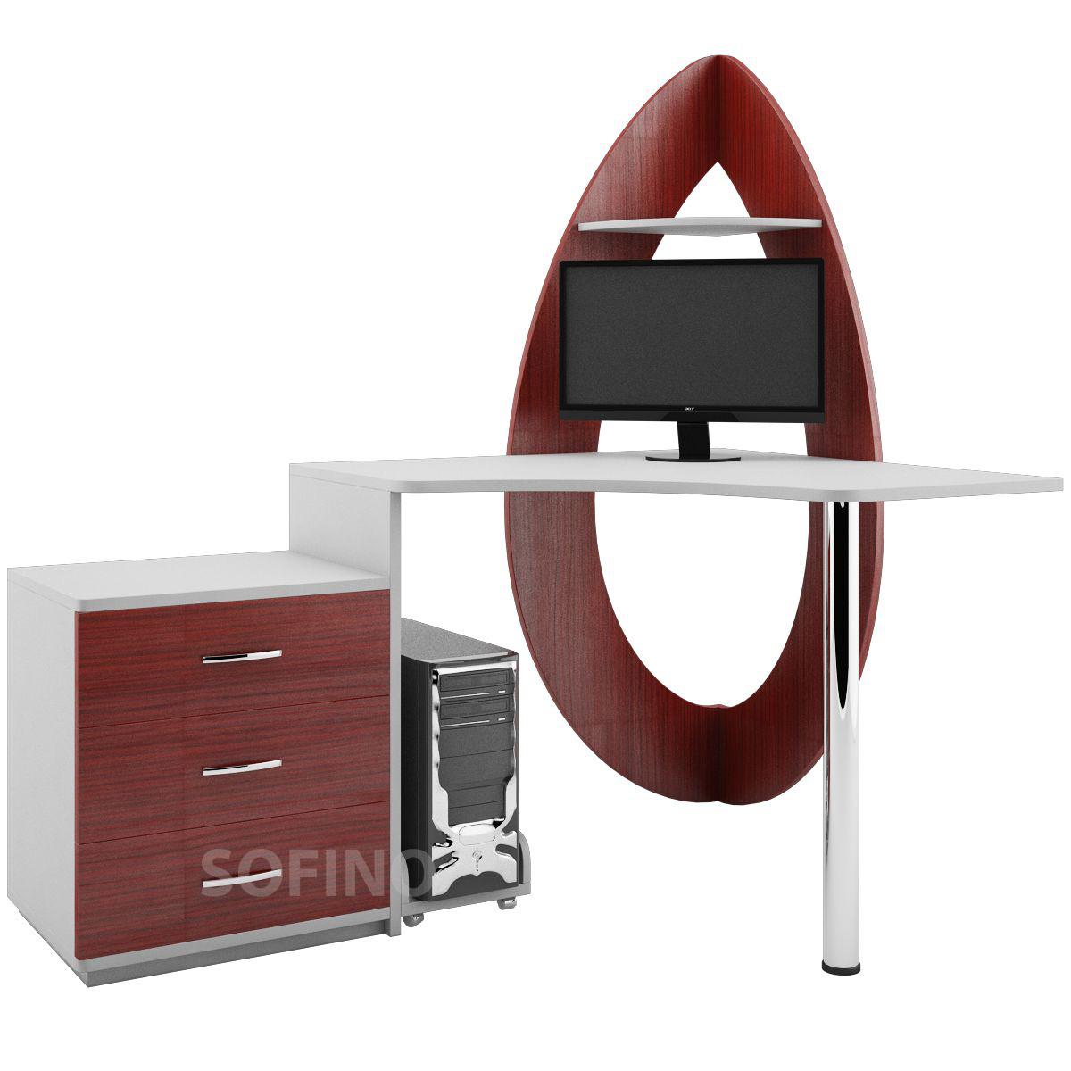 Фото Компьютерный стол «Илифия» NIKA мебель - sofino.ua