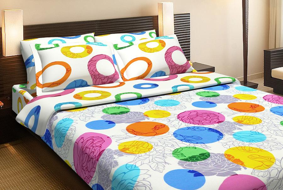 Фото Комплект «Цветочное конфетти» двуспальный Miratex - sofino.ua