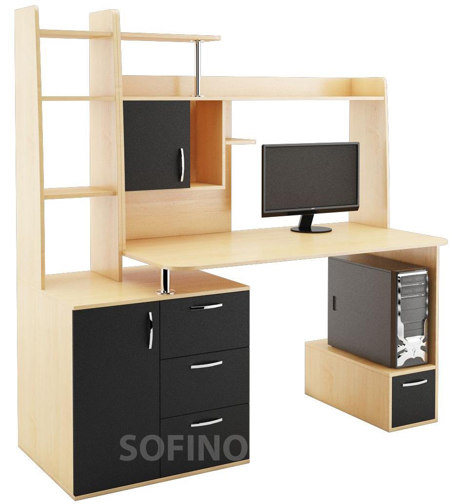 Фото Компьютерный стол «Эфир» NIKA мебель - sofino.ua