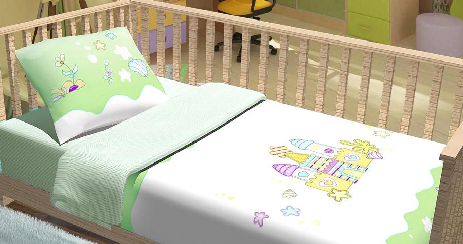 Фото Комплект Baby «Замок» зеленый Miratex - sofino.ua