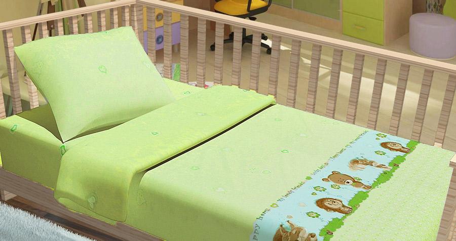 Фото Комплект Baby «Лесные зверьки» зеленый Miratex - sofino.ua