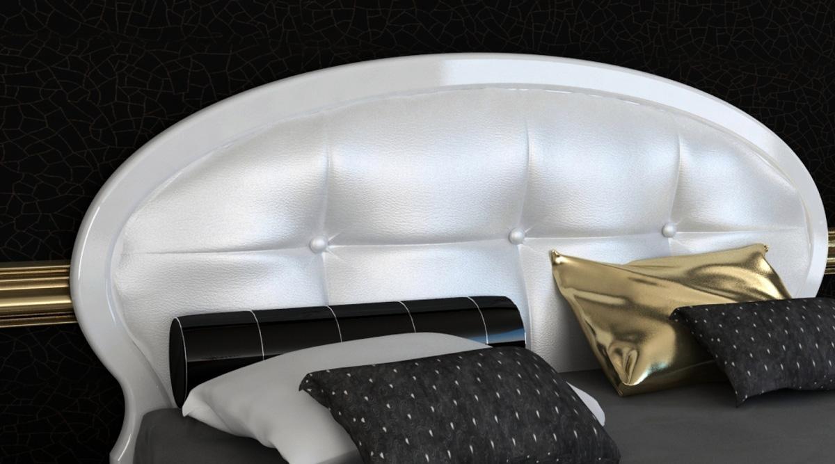 Фото Кровать «Империя» (М) 1,6 | гл. белый MiroMark - sofino.ua