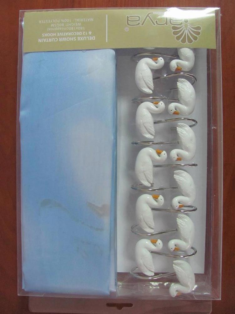Фото Шторы для ванной «Ducks 1353013» 180*180 Arya - sofino.ua