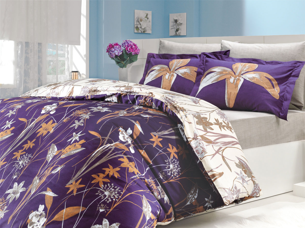 Фото Комплект «Clarinda» евростандарт / фиолетовый Hobby - sofino.ua