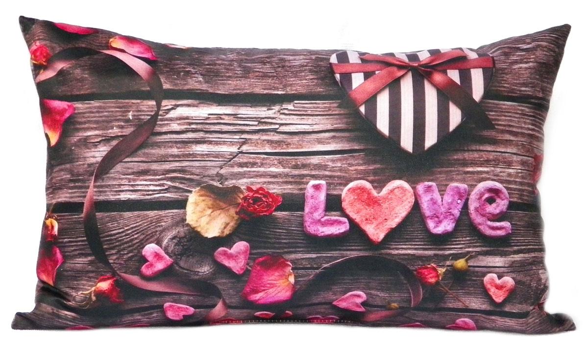 Фото Подушка декор «Love» бежевый 30*45 Izzihome - sofino.ua