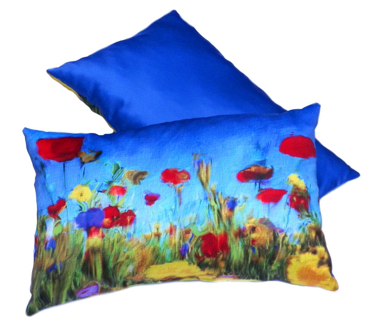 Фото Подушка декор «Цветочное поле» 30*45 Izzihome - sofino.ua