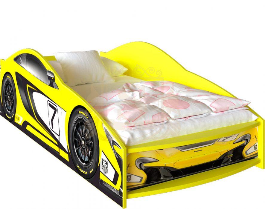 Кровать-машинка «McLaren» цвет: желтый | 80*190