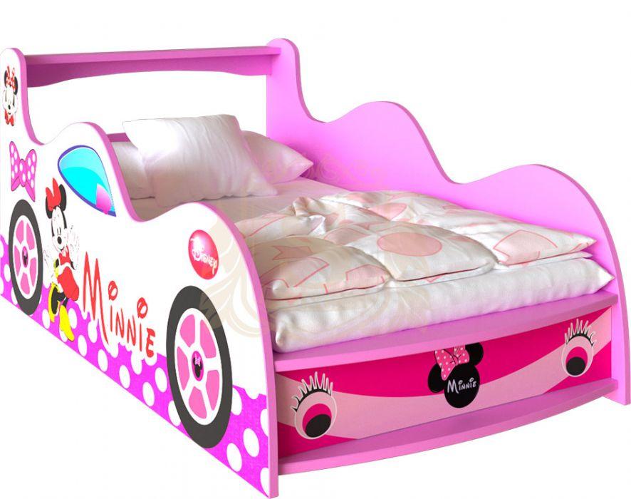 Кровать-машинка «Minnie Mouse» цвет: розовый | 80*190