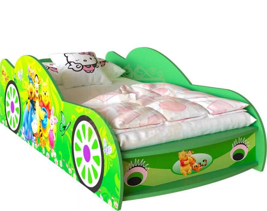 Кровать-машинка «Winnie 1» цвет: зеленый | 80*190