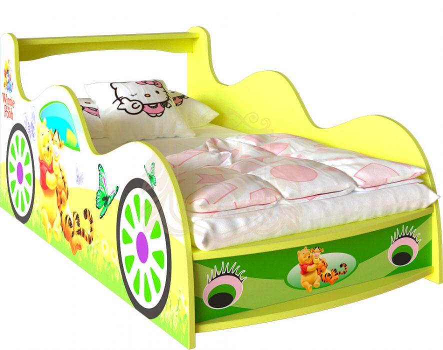 Кровать-машинка «Winnie 2» цвет: жетый | 80*190