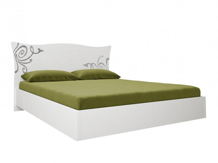 Фото Ліжко без ламелей Богема 160х200 • Глянець білий • ДСП Розпродажна позиція - SOFINO.UA