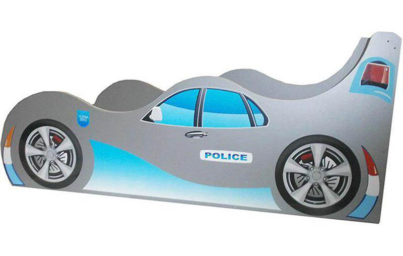Фото Кровать-машинка «Полиция» цвет: синий   60*120   Код товара: 18184 - SOFINO.UA