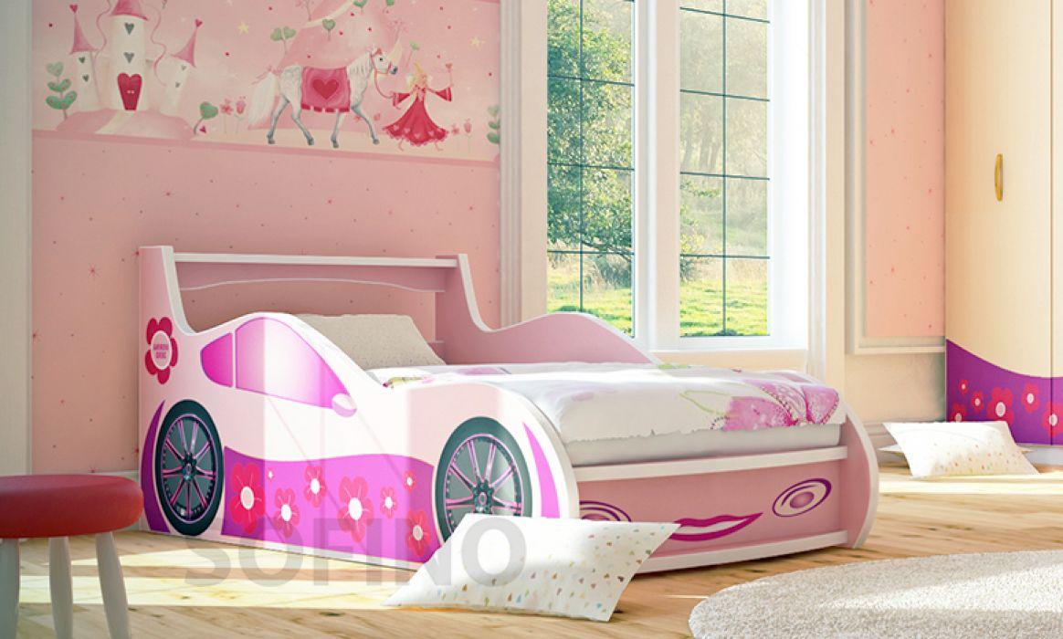 Кровать-машинка «Лили» 90*200