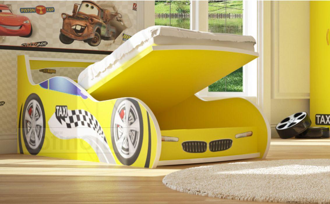 Кровать-машинка «Такси с подъемником» 90*190