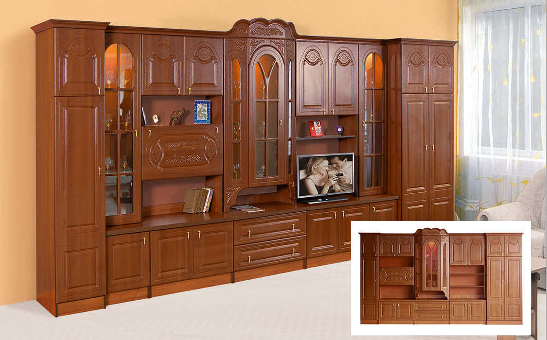 Фото Вітальня Лорд 5,0 Світ Меблів МДФ Розпродажна позиція - SOFINO.UA