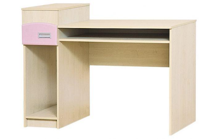 Фото Письмовий стіл Террі Світ Меблів • 120х92х60 • Клен + Рожевий - SOFINO.UA