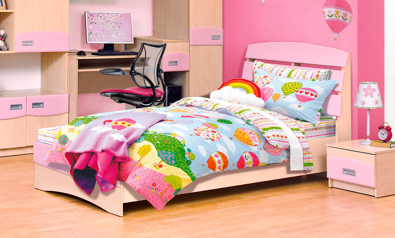 Кровать 90*200 «Терри» розовый