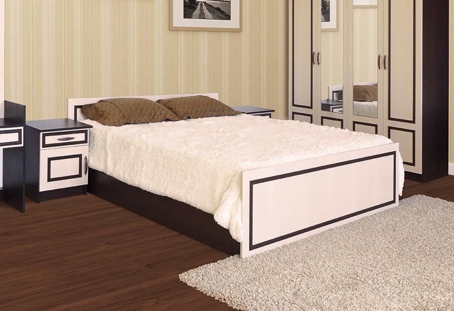 Фото Ліжко - Світ меблів - ДСП - Кім - Колір Венге - 160х200 см - SOFINO.UA