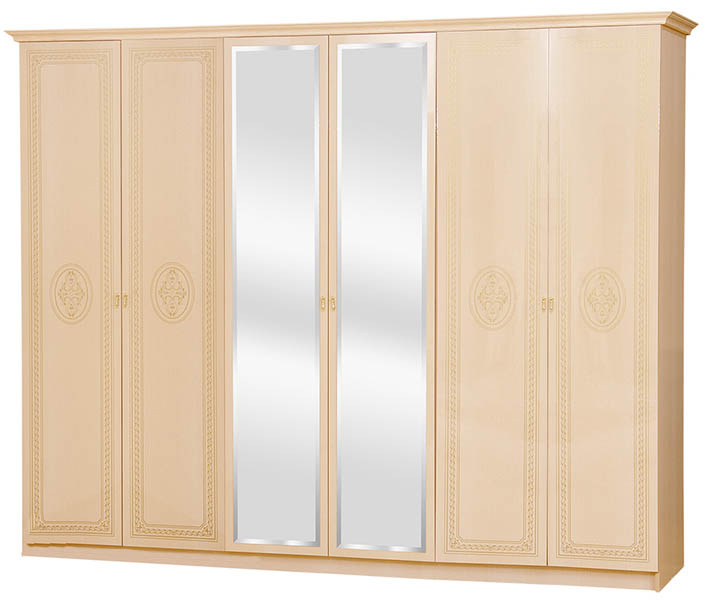 Шкаф 6Д «Флоренция» венге светлый