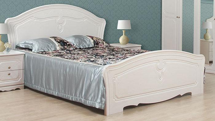 Фото Кровать 160*200 «Луиза» белое золото ( код товару 213525 ) - SOFINO.UA