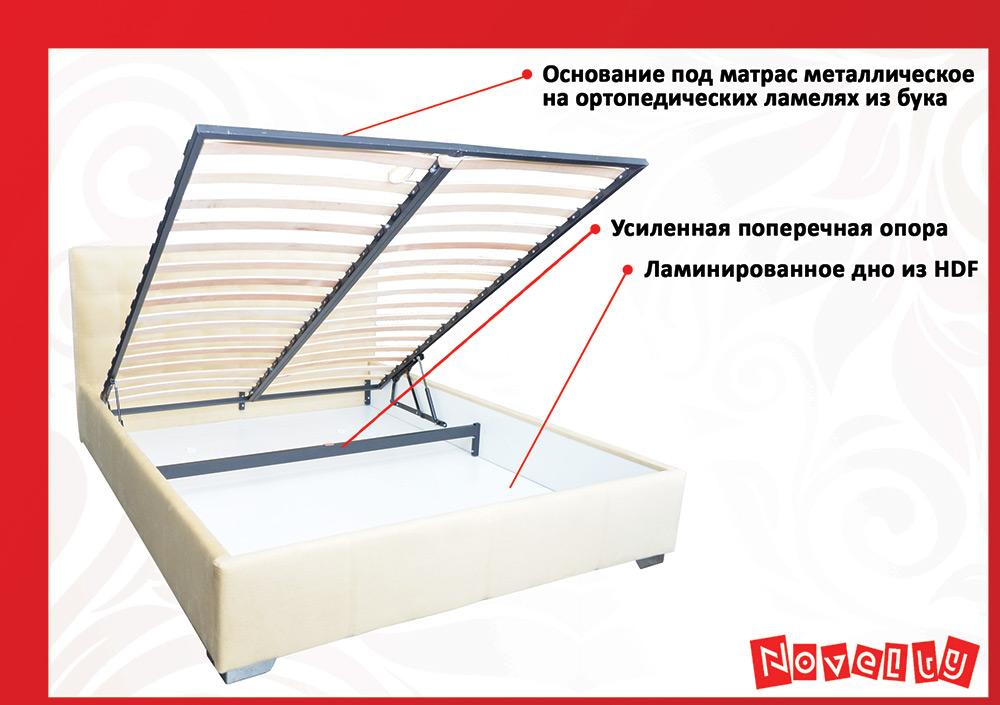 Фото 7 Кровать «Гера» 90*200 - SOFINO.UA